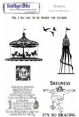 IndigoBlu A5 Mounted Red Rubber Stamp Set - Skegness